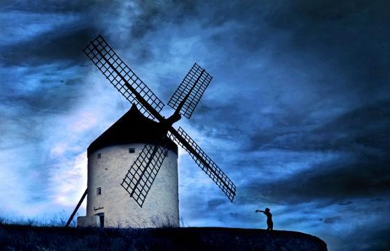 Vista del Molino de Viento de Don Quijote de la Mancha