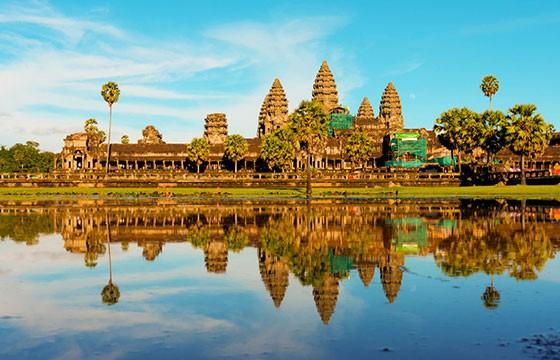 Vista de ruinas Angkor Camboya