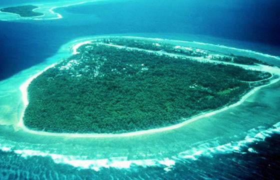 Vista de la Isla Palmyra en Hawaii Samoa