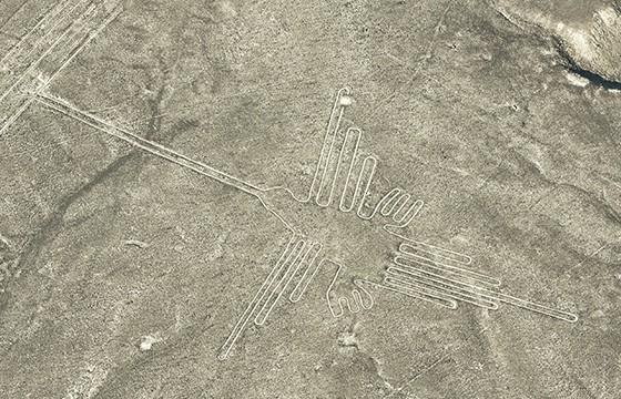 Vista de las Líneas de Nazca en Perú