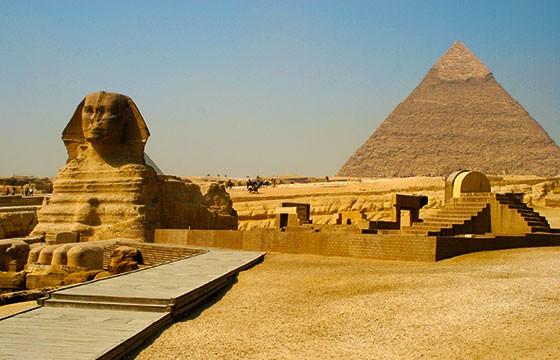 Vista de las emblemáticas Pirámides de Egipto