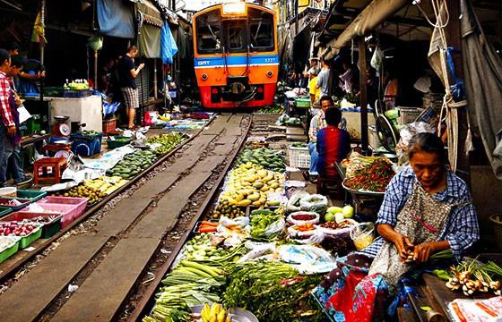 Talad Room Hoop en Tailandia. Mercados alrededor del mundo.