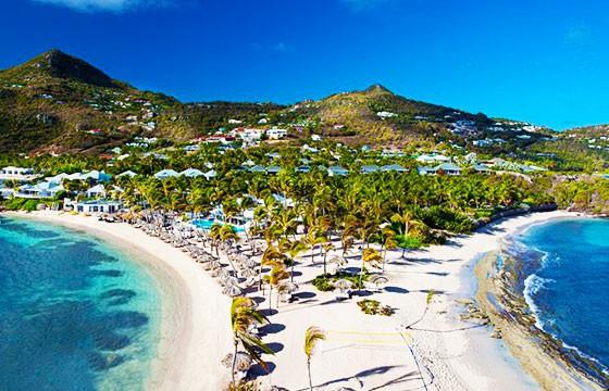 Vista de la isla Bahamas, ruta de Cristóbal Colón