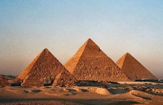 Vista de las Pirámides de Guiza Egipto