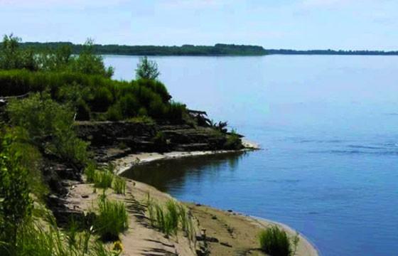 Vista de la isla Nazino Siberia