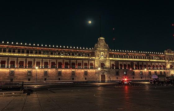 Vista del Palacio Nacional Cuidad de México