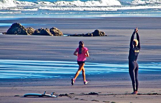 Correr. Deportes de vacaciones.