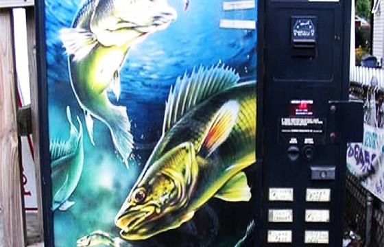 Expendedora de peces. Máquinas expendedoras más extrañas del mundo.