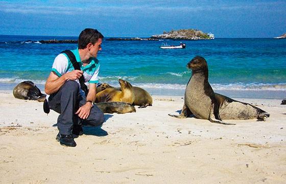 Vista de Isla Genovesa en los Galápagos