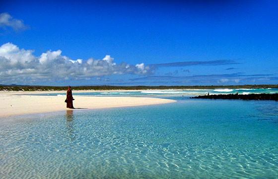 Vista de la Isla San Cristóbal en los Galápagos