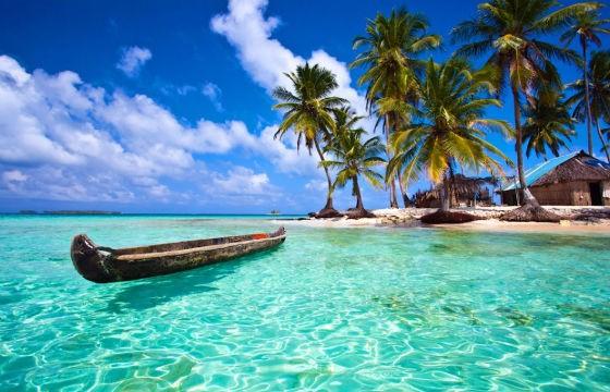 Vista de la Isla San Blas en el Caribe
