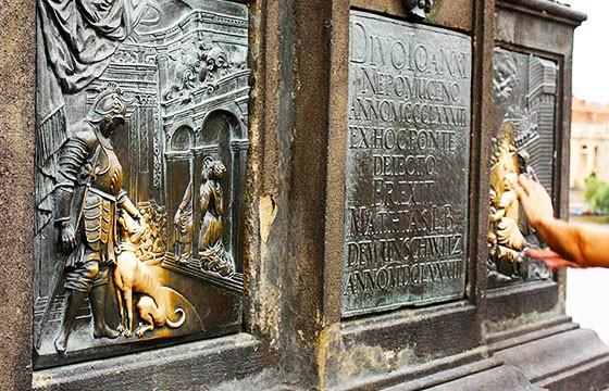 Estatua de la suerte San Juan Nepomuceno