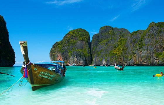 Vista de las Islas Phi Phi en Tailandia, Sudeste Asiático