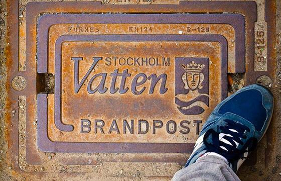 Las tapas de las alcantarillas en Suecia. Lugares que dan suerte.