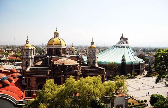 Vista de la Baílica de Guadalupe México