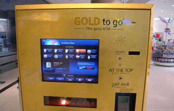 Máquina vendedora de oro. Máquinas expendedoras más extrañas del mundo.
