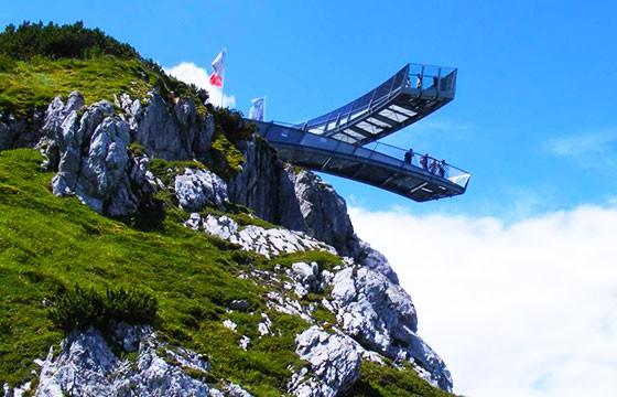 Vista del mirador AlpspiX Alemania