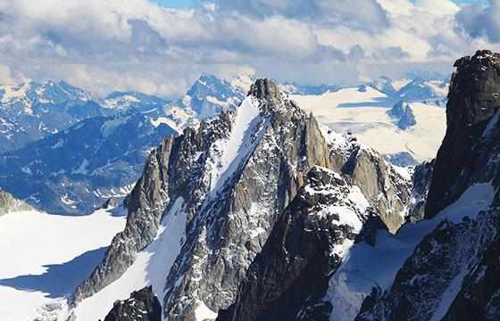 ont Blanc, Los Alpes. Lugares más extremos del mundo.
