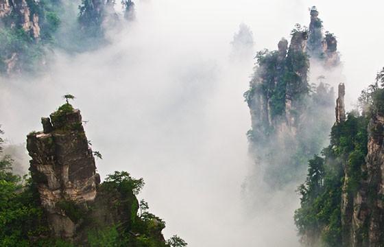 Montañas Tianzi, China. Lugares más extremos del mundo.