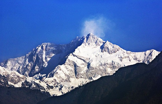 Montaña Kangchenjunga. Las montañas más altas del mundo.