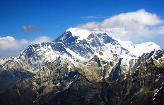 Monte Everest. Las montañas más altas del mundo.