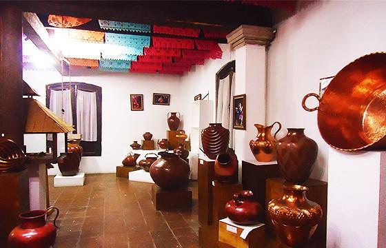Museo del cobre. Feria del cobre, Michoacán.