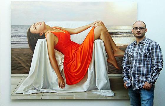 Omar Ortíz, pintor hiperrealista. Festival de las artes en Jalisco.