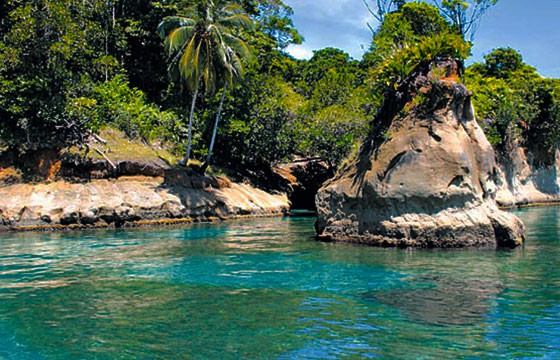 Vista de la Isla Escudo de Veraguas Panamá