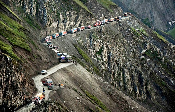 Zoji La, India. Carreteras más extremas-peligrosas del mundo.