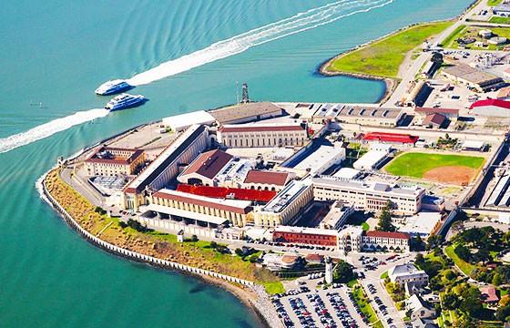 Vista de la cárcel San Quentin