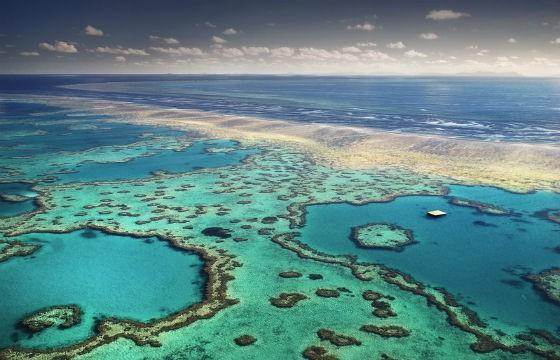 Vista de la Gran Barrera de Coral Australia