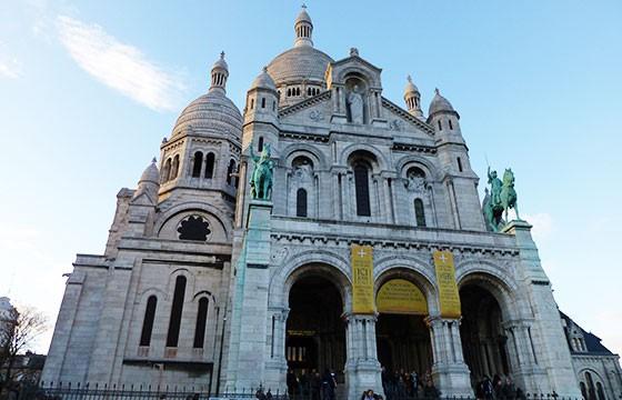 Vista de la Basílica del Sagrado corazón en Francia