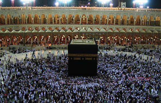 Vista de la Mezquita de Masjid al Haram en Arabia
