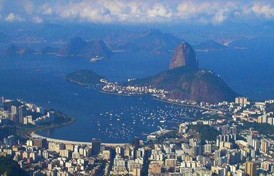 Vista desde el mirador Cristo Redentor Brasil