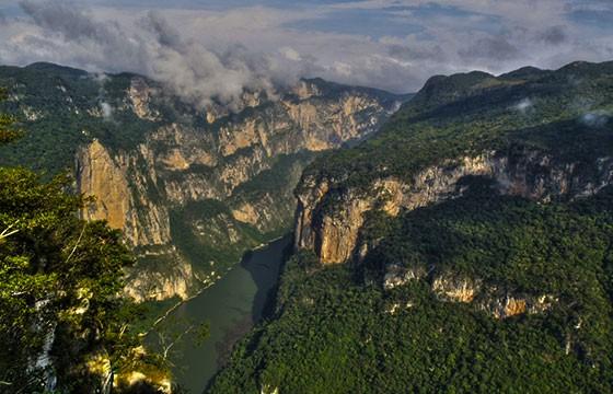 Vista desde el Cañón del Sumidero Chiapas