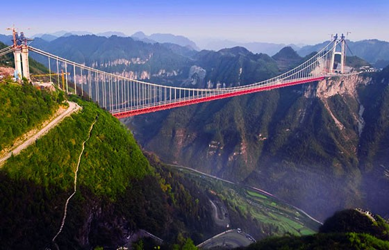 Vista del puente Aizhai en China