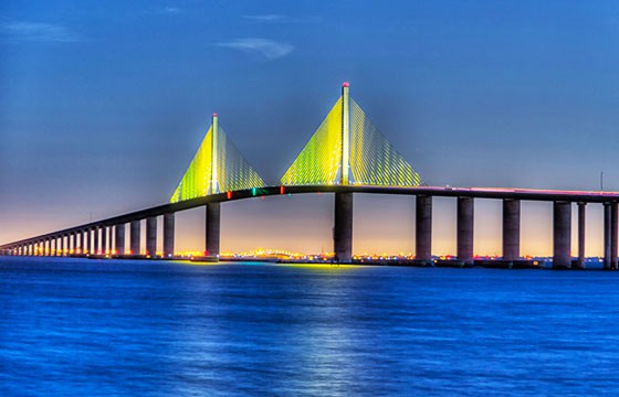 Vista del Puente Sunshine Skyway
