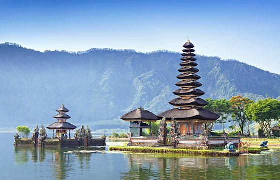 Lago en Bali.