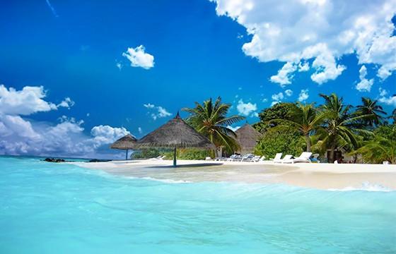 Playa exótica de Jamaica.
