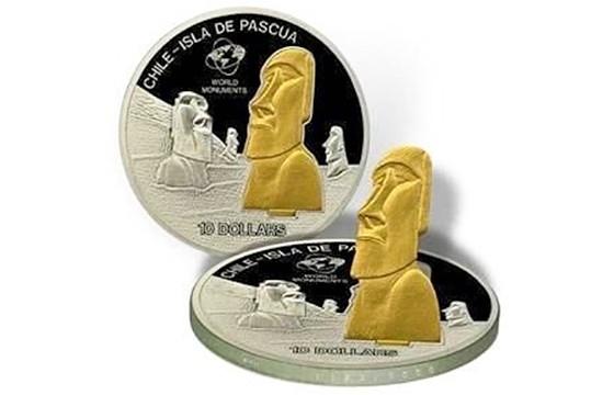 Moneda de la Isla de Pascua, Islas Cook. Las monedas más extrañas del mundo.
