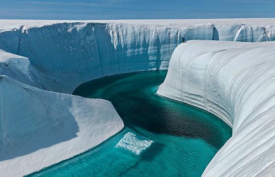 Impresionante Cañón de hielo