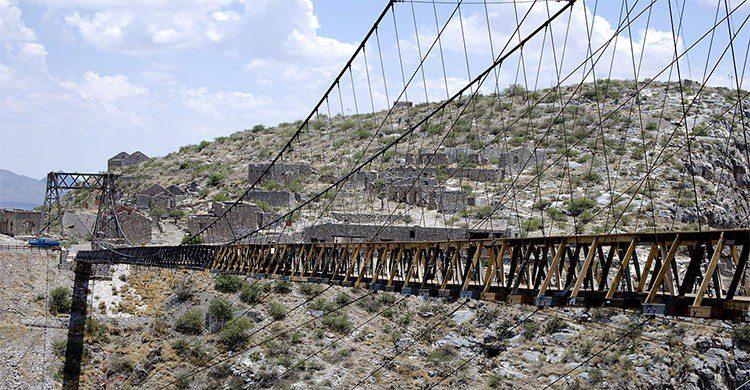 Puente colgante en Ojuela