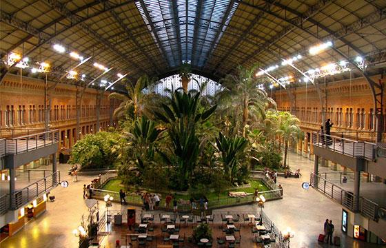 Jardines en la estación de Atocha