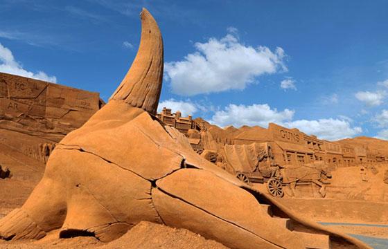 El viejo oeste hecho de arena