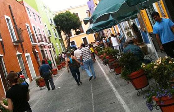 Gente en Puebla