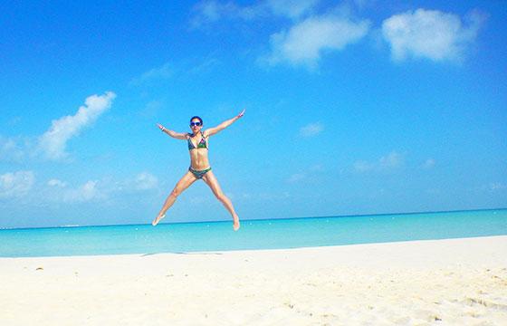 Playa Norte star jump leap-Bex Walton-Flickr