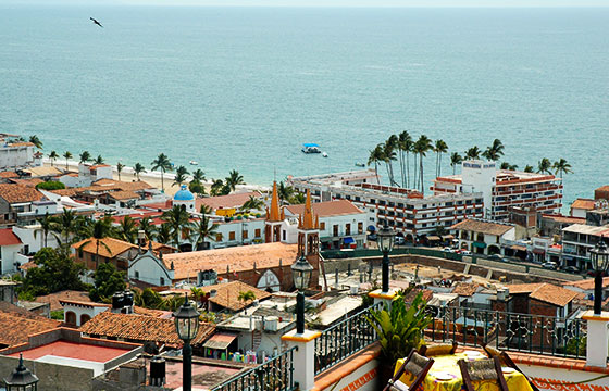 Puerto Vallarta from above, looking at the Malicon (walkway) - and Rosita Hotel, Puerto Vallarta, Jalisco, Mexico-Wonderlane-Flickr