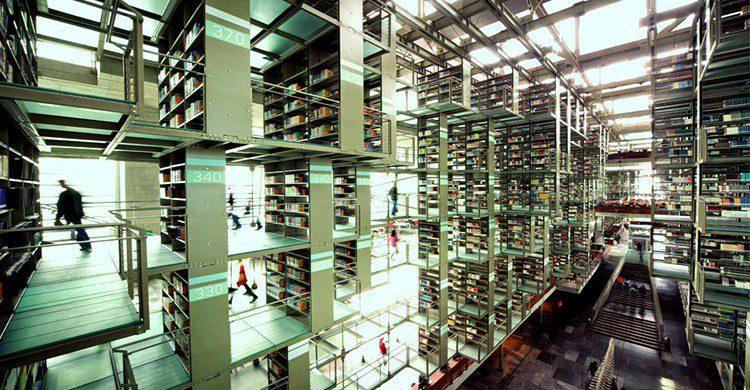 Interior de Biblioteca Vasconcelos