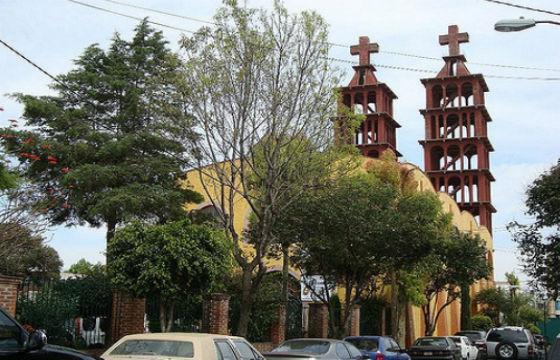 La iglesia de Huesos de San Lucas Tepetlacalco