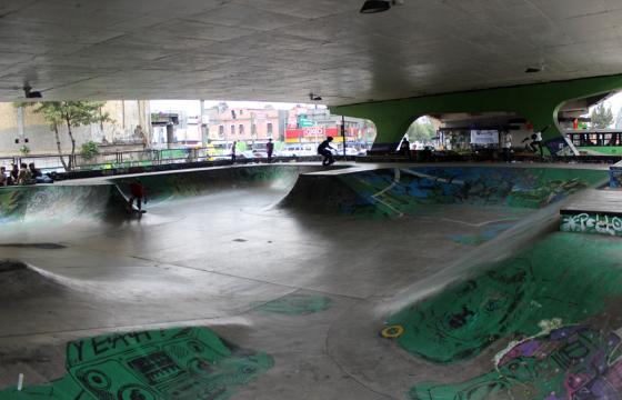 Pista de patinaje en San Cosme